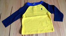 Ralph Lauren Polo Boys T Shirt - BLUE - SIZES - 3,6,9 & 12 MONTHS - NEW