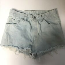 Jordache vintage 90s high rise Light Blue Denim Jean shorts Deadstock