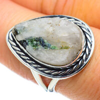 Green Tourmaline In Quartz 925 Sterling Silver Ring Size 8 Ana Co R50487F