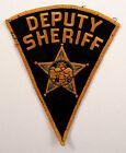 Deputy Sheriff Gauze Backed Pie-Shaped Uniform Patch #Pd-Yl