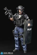 "Figura di POLIZIA AZIONE DID 1/6 12"" POLIZIA SWAT DENVER in scatola Dragon Toys Modern HOT"