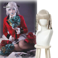 Kakegurui Kirari Momobami 35cm Short Wigs Gray Braids Styled Clip on Cosplay Wig