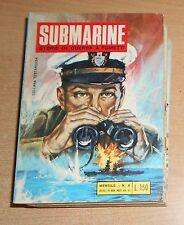 ED.BIANCONI  SERIE  SUBMARINE   LOTTO  8  NUMERI  1969  ORIGINALE !!!!!