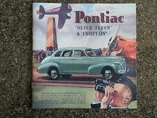 1940 PONTIAC SALES  BROCHURE  '' RHD AUSTRALIAN VERSION''  SUPER RARE!