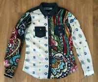 Desigual rare ladies womens multicolor floral shirt blouse size S
