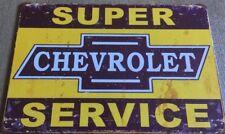 Chevrolet Garage Rustic Look Vintage Tin Signs Man Cave, Shed & Bar Sign