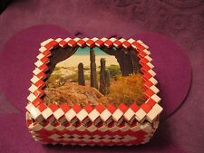 RED AND WHITE TRINKET BOX