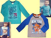 Kleinkind Jungen Shirt Kinder Langarmshirt T.-Shirt Jungs Pulli  Gr. 74-104