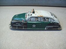 Tin Wind Up Police Patrol Car #7 Toy PD #630 Litho 40'S 50'S ANTIQUE VINTAGE
