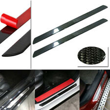 2pcs 60CM Carbon Fiber Car Scuff Plate Door Sill Cover Panel Step Protector Kit