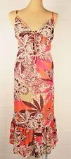 Next Long Patterned Beach Dress Sz 16