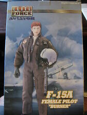 "1/6 12"" 30cm GI JOE ACTION MAN BLUEBOX BBi F-15A FEMALE PILOT BURNER"
