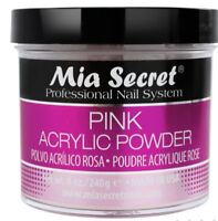 Mia Secret Acrylic Nail Powder Nail System Size: 8 oz - Pink & EARRINGS