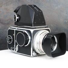 ~Hasselblad 500C Camera w/ 80mm F2.8 Planar Lens Metered Prism + A12 Back