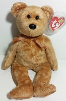 """TY Beanie Babies """"CASHEW"""" the Brown TEDDY BEAR - MWMTs! PERFECT GIFT! MUST HAVE!"""