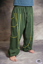 MENS HIPPY TROUSERS Baggy Cotton Psytrance Festival Party Goa One Size Fits All