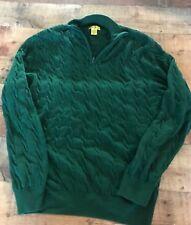 Duck Head zipper front Green sweater size L