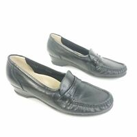 SAS Tripad Comfort Loafers Black Leather Slip On Comfort Shoes Womens Size 8.5 S