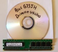Asus G73JH Drivers and Utilities Disk for Windows 7 64bit on any size hard drive