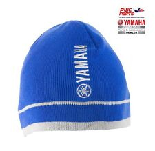 YAMAHA Stone Cold Beanie CRP-13HBN-BL-NS Blue / White 100% Cotton Knitted Fabric