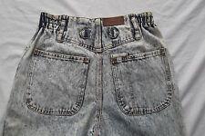 vtg 1980s acid wash MOM high waist rise taper leg denim jeans elastic side 10 12