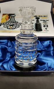 Kris Letang Pittsburgh Penguins signed 2017 Game Used ICE Stanley Cup