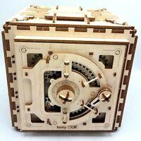 Safe UGEARS Wooden 3D Mechanical Gear Model Kit Combination Safe 502280 Works EX