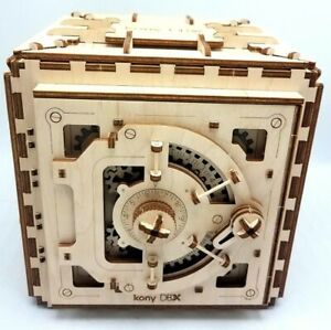 Safe UGEARS Wooden 3D Mechanical Gear Model Kit Combination Safe 502280 Works EX