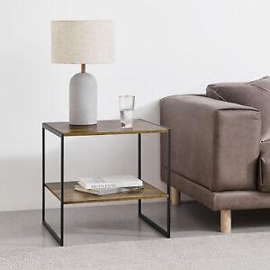 [en.casa] Beistelltisch Nachttisch Kaffeetisch Sofatisch Nebentisch 50x50x50cm