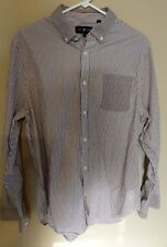 Five Four Mark Mcnairy brown stripe long sleeve shirt size L