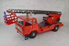 "Joustra Extension Ladder Fire Truck France 16 1/2"" Long Clockwork Works Great"