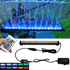 LED Aquarium Lights Submersible Air Bubble RGB Light for Fish Tank Underwater AU