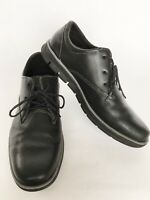 Men's Timberland Bradstreet Plain Toe Black Oxford Shoes Size 9.5 Casual Comfort