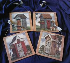 4 Outhouse Pictures Bathroom Outhouses Wall Hangings Home Decor