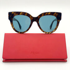 Brand New Fendi Ff 0360/G/S H7P Havana Logo Cat Eye Women Sunglasses