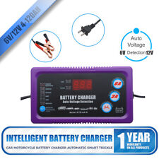 Automatic Car Battery Charger 220V To 6V 2A 12V 6A Wet Dry Lead Acid Digital LCD