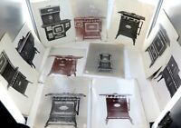 .c1900 - c1920 RARE LOT of 20 TRAVELLING SALEMAN STOVES & HEATERS LARGE PHOTO'S