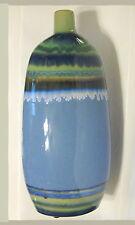 Tall Ceramic Multi-colored Vase Drip Glaze