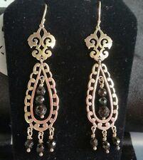 SILPADA Sterling Silver Agate Vintage Style Chandelier Earrings W2308 HTF Black