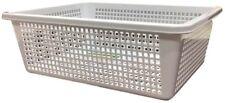 6x White Multi-purpose Plastic Storage Basket Organiser Tubs 31X24.5CM