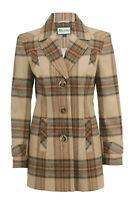 Busy Ladies  Wool Blend Beige Check Jacket Coat