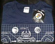Loot Crate Power Rangers T-shirt 2XL XXL & Pin from Build Crate February 2017