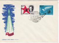 Poland 1961 Rocket into Space FDC Planet+rocket Cancel Stamps Cover ref R18813