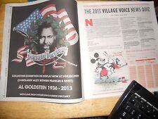 Voice 2013 News Quiz, Al Goldstein Forever 1936-2013 MMuseumm Baron Von Fancy AD