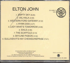 "ELTON JOHN ""EMPTY SKY - LOS 60 DE LOS 60"" RARE SPANISH CD - TAUPIN / NEW SEALED"