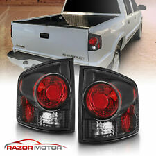 For 1994-2004 Chevy S10/Gmc Sonoma Black Rear Brake Tail Lights Pair (Fits: Isuzu)