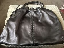 """MICHAEL KORS """"ASTOR"""" Metallic Silver Studded LEATHER HOBO - EXCELLENT PRE-OWN"""