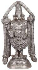 "Venkateshvara Tirupati Balaji God Hindu Statue 23""Silver Hue Brass Figure 15.5KG"