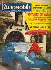 L'AUTOMOBILE 147 1958 24H DU MANS ATLA RENAULT DOMAINE 500 MILES INDIANAPOLIS