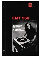 Descrizione-prospetto informativo per EMT 950